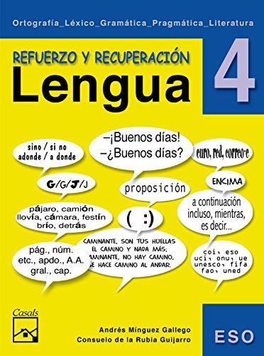 Refuerzo y recuperación. Lengua 4 (Cuadernos ESO) - 9788421836644