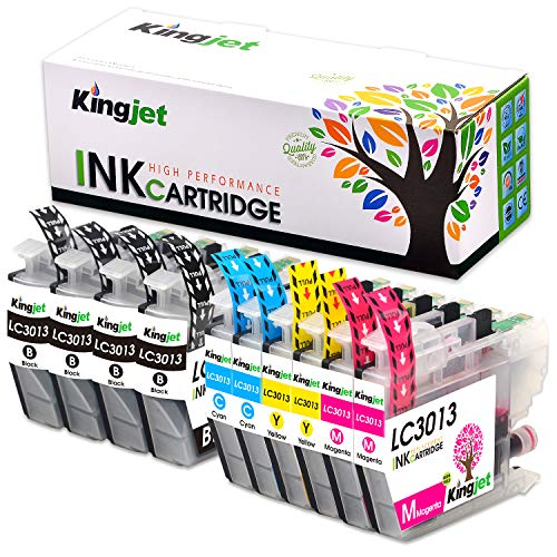 Kingjet Compatible Ink Cartridge Replacement for Brother LC3011 LC3013 Use with MFC-J487DW MFC-J491DW MFC-J497DW MFC-J690DW MFC-J895DW Inkjet Printers 10 Pack(2Set and 2BK)
