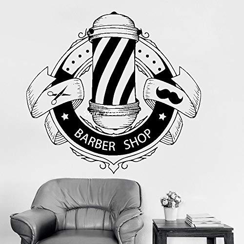 zqyjhkou Friseur Zeichen Wandtattoos Barbershop Fenster Wand Dekor Poster Friseur Aufkleber Wandaufkleber Abnehmbare Wasserdicht 99x92cm