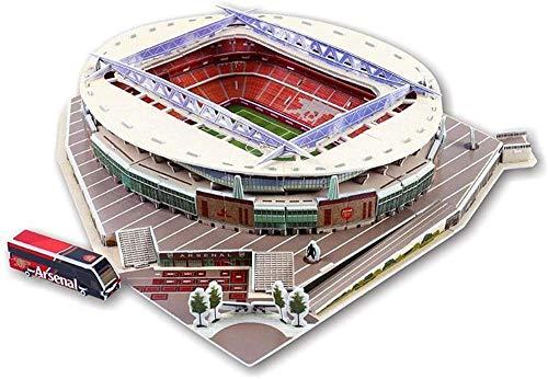 Abcoll Rompecabezas 3D tridimensional – DIY Estadio de Fútbol Mundial de Construcción de papel de construcción de montaje adecuado para regalos y decoraciones educativas e interesantes (color: 01)-04
