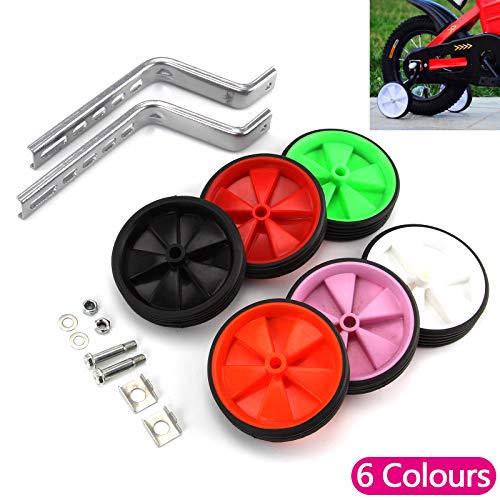 JUEYAN 2X Fahrrad Stützräder Hilfsräder für kinderfahrrad Trainingsräder Kinder Rad Zubehör für Alle Fahrräder von 12-20 Zoll (Grün) - 3
