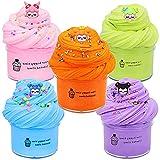 SWZY Fluffy Slime Set, Slime Set, Fluffy Putty, Putty Slime, Soft Butter Slime Set, Juguetes para aliviar el estrés para niños, Adolescentes y Adultos, 5pcs