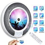 Lettore CD Portatile Bluetooth Gueray Montabile a Parete Altoparlante Hi-Fi Integrato Blue...