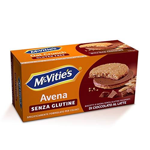McVitie´s Biscotti d'avena senza Glutine Ricoperti di Cioccolato al Latte, 150g