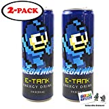 Mega Man E Tank Energy Drink 12 FL OZ (355mL) Can (2 Pack) With 2 GosuToys Stickers