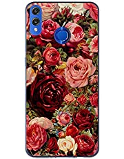 Oihxse Case Transparente Suave TPU Compatible con Huawei Mate 30 Funda [Lindo Caricatura Flor Serie Dibujos] Cristal Protector Carcasa Anti Rasguños Bumper Cover-Rosa