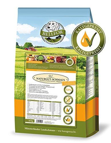 Bellfor Naturgut-Schmaus Kaltgepresst Trockenfutter mit Insekten Getreidefrei 10 kg