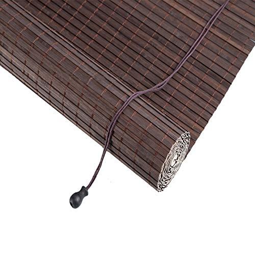 NIANXINN Estores de Bambú Natural,Persianas de Bambú,Estor Enrollable de Bambú,Filtros de luz Cortinas,Toldo Vertical,para Interiores/Exteriores/Ventanas/Puerta,Tamaño Opcional (80x220cm/32x87in)