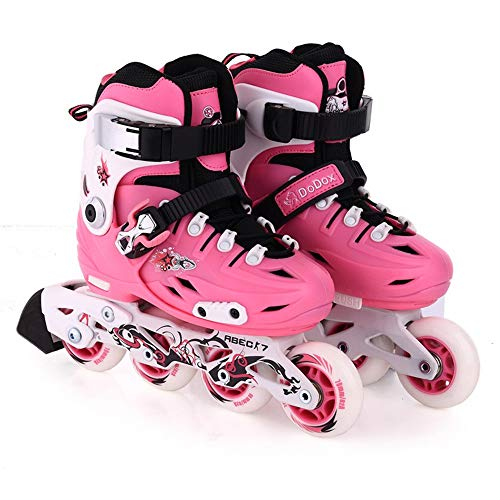 Ice-Beauty-ukzy Roller Skates, Roller Blades for Kids and Youth Size Adjustable Light Up Roller Skates Indoor Outdoor for Kids Best Giftspink-M (32~36)