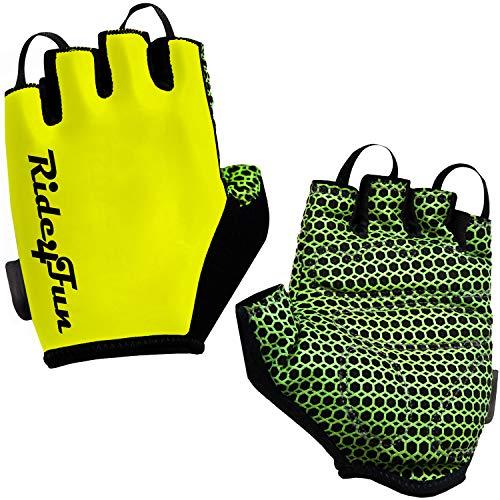 Half Finger Mountain Biking Gloves for Men. Gel Shock-Absorbing Bicycle Riding Road Bike Glove for Women. Best Fingerless Cycling Gloves for Mens/Womens (M)