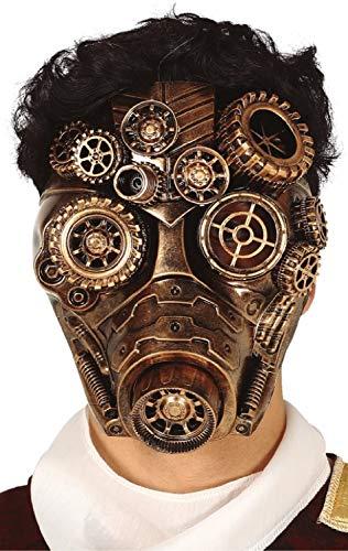 Herren-Vollgesichtsmaske im Steampunk-Design, viktorianischer Erfinder, Karneval, Halloween, Kostüm-Zubehör