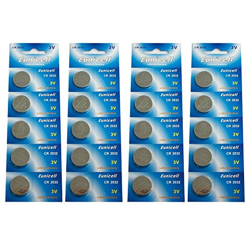 Eunicell CR2032 5004LC Lithium Blister Pack 3V 3 Volt Coin Cell Batteries (20 pcs)