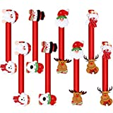 8 Pieces Christmas Refrigerator Door Handle Covers Santa Snowman Door Handle Covers Xmas Kitchen Appliance Covers for Christmas Fridge Microwave Dishwasher Handle Decorations (Style Set 2)