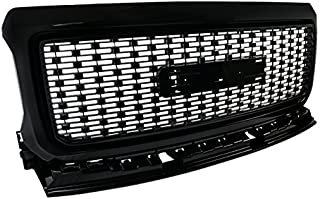 For GMC Canyon Pickup Polished Black ABS Front Bumper Hood Grill Grille Replacement