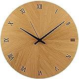 Wanduhr | Holzuhr | Holz | Eiche Natur Massiv |  30cm rund | besteht aus 12 Dreiecken | sehr leises Quarz Uhrwerk von Junghans | modern | Qualitätsprodukt | handgemacht in Österreich | exklusiv