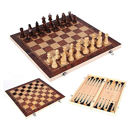 HYLX Juguetes educativos Tablero de ajedrez para niños y Adultos Juego de ajedrez de plástico Plegable con Tablero de ajedrez Plegable para Almacenamiento (Color: 60Mm, Tamaño: S)