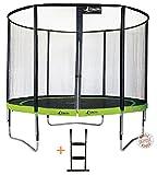 Kangui - Trampoline de Jardin Rond 305 cm + Filet de sécurité + échelle PUNCHI Aloe 300