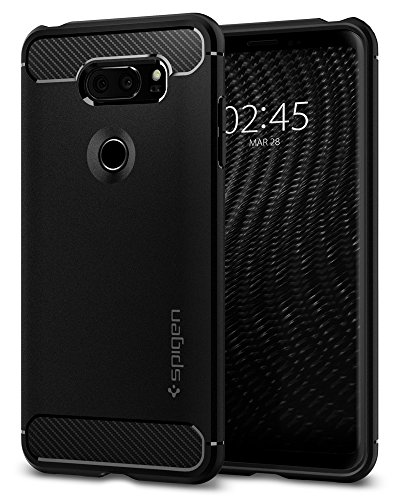 Spigen Rugged Armor Designed for LG V30 Case (2017) - Black