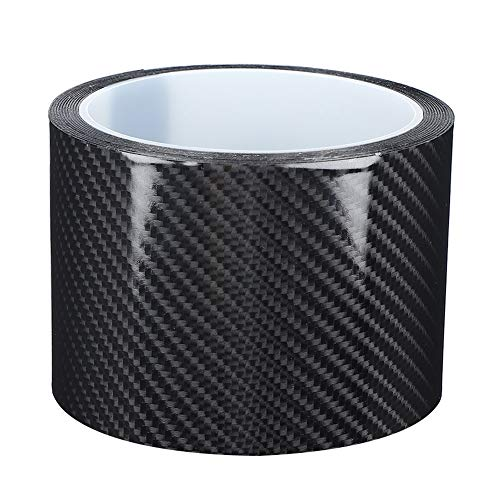 Tiras de Fibra de Carbono Película Protectora de Fibra de Carbono antiarañazos Detalle de Fibra de Carbono Seca Cinta de Vinilo para Envolver el Borde de la Puerta del Coche Etiqueta(7CM*3M)