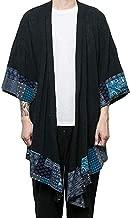 COOFANDY Men's Cardigan Long Length Lightweight Poncho Cloak Open Front Cape Coat