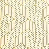 Timeet Papel Adhesivo para Muebles, Diseño de Geometría de Color Dorado y Beige, con Rayas Dorado,...
