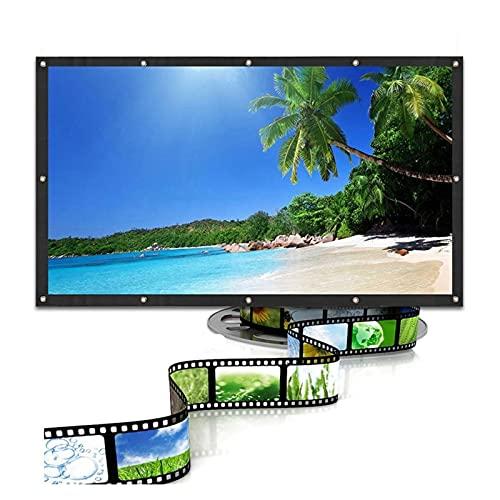 Gwendolyn Pantalla de proyector Salange 4: 3, 60 72 84 100 Pulgadas Inicio Oficina al Aire Libre Video Portátil Beamer 3D 4k 1080p Pantalla de proyección (Size : 100 Inch)