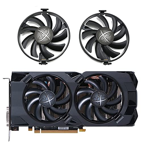 FDC10U12S9-C RX480 RX470 Cooler Fan Replace for XFX Radeon RX 480 470 470D RS Black Wolf Graphics Card Cooling Fan (2PCS)