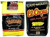 Yaucono Coffee and Café El Coqui Puerto Rican Ground Coffee Variety:– Café Yaucono y Café El Coquí de Puerto Rico - in 8 oz bags (1lb Total)- Two of the best Puerto Rico Coffee