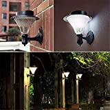Solar Garden Led Light Led Wandleuchte Solar Stehleuchten Outdoor Waterproof Power Batterie Lampen Weiß Wie Abgebildet