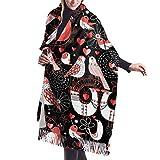 Wrap Shawl Scarves Bufanda Fringe Graphic Birds In Love Heart Womens Print Winter Warm Cashmere Scarf Shawls