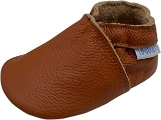 YIHAKIDS Baby Infants Soft Sole Leather Shoes First Walking Moccasins Boys Girls Crawling Slippers