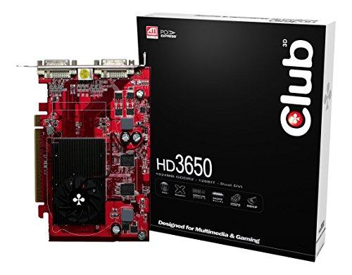 Club 3D ATI Radeon HD3650 Grafikkarte (PCI-Express, 1GB GDDR2 Speicher, Dual DVI, 1 GPU)