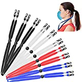Face Mask Lanyard with Clips,10PC Mask Neck Strap for Kids Adults Lanyards,Adjustable Length Face Mask Holder,Elastic Ear Savers for Masks with Snap Button for Women Men Child(Random Color)