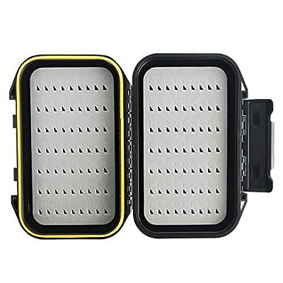M MAXIMUMCATCH Maxcatch OR Fly Box Waterproof Portable Design Fly Fishing Box Flies Case Swing Leaf Insert