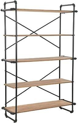 vidaXL Bücherregal Massives Tannenholz Stahl 120x42x180cm Standregal Regal