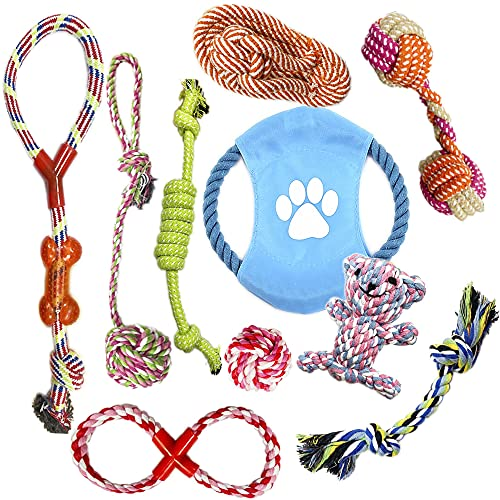 VIROSA Dog Rope Toys | Pack of 10 | Chew Toys For Puppy | Interactive Toys...