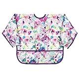 Bumkins Sleeved Bib / Baby Bib / Toddler Bib / Smock, Waterproof, Washable, Stain and Odor Resistant, 6-24 Months - Watercolor