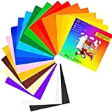 Royal Elements Adhesive Vinyl Sheets - 45 Sheets Assorted Colors for Cricut and Other Cutters + 5 Transfer Paper Sheets