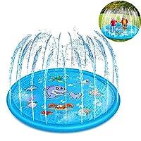 Funny Water Mat - Splash Pad crea un parco acquatico in miniatura in grado di portare i tuoi bambini nel mondo delle fiabe e far loro godere appieno della loro innocenza e gioia! Con funzioni a misura di bambino e un ampio 60-67 pollici, puoi tranqui...