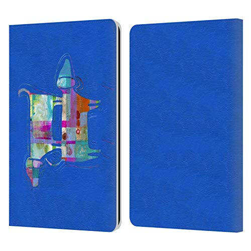 Head Case Designs Offiziell Zugelassen Wyanne Double Wags Double Fun Tiere Leder Brieftaschen Handyhülle Hülle Huelle kompatibel mit Kindle Paperwhite 1 / 2 / 3