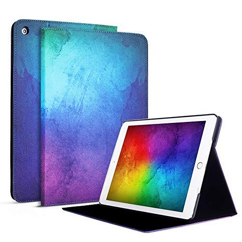 FAN SONG Cover per Nuovo iPad 8a Gen 2020 / iPad 7a Generazione 2019 10,2 Pollici Custodia - Flip Motivo PU in Pelle Smart Protettiva Cover con Supporto Multi-Angolo, Auto Sveglia/Sonno - Multicolore