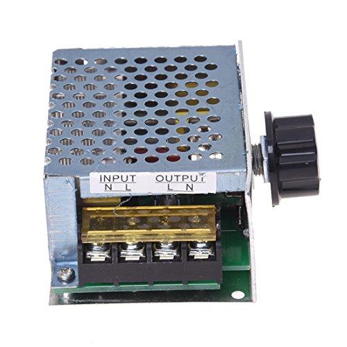 SODIAL(R) Regulador Controlador de Tension Voltaje Silicio Alta Potencia 4000W con Cascara