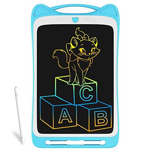 Richgv LCD Writing Tablet,12 Pollici Colorato Elettronico Tablet Tavoletta Grafica Digitale Scrittura, Ewriter Paperless Disegno Pad con Memoria di Blocco per Bambini Della Casa Scuola Ufficio(Blu)…