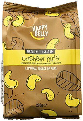 Amazon Marke - Happy Belly Ganze naturbelassene und ungesalzene Cashewnüsse, 7x200 g