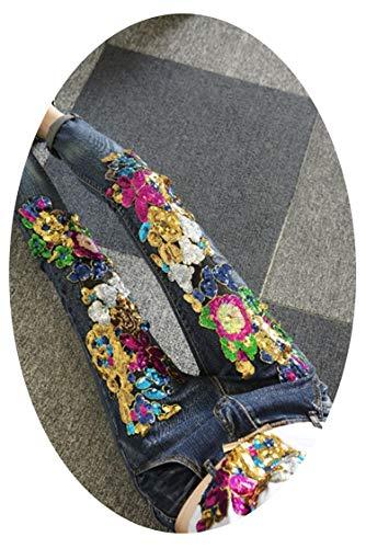 Manga larga Denim Primavera Otoño Nueva Solapa Patchwork Sola Botonadura Bolsillos Vintage Abrigo Mujer Chaqueta