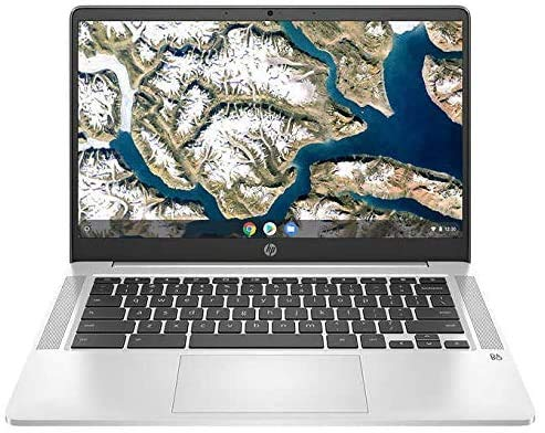 "HP Chromebook 14 14"" FHD Laptop Computer, for Education or Student, Intel Celeron N4000, 4GB DDR4, 64GB eMMC, 11+ Hrs Battery, Webcam, Chrome OS, Online Class Ready, BROAGE Mousepad + 128GB SD Card"