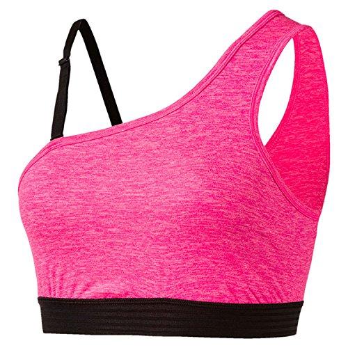 PUMA Yogini One Shoulder, Sport BH Damen L Knockout Pink Heather