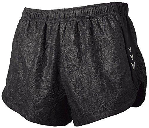 CRIVIT® Damen Laufshorts im angesagten Knitterlook (Gr. 40, schwarz)