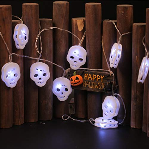 Euone_Home Hanging Halloween Skull Light String Decoration Light 20LED Lights