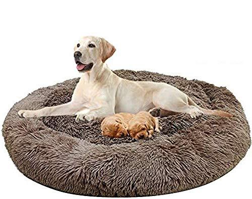 GAOZHEN Cama ortopédica para perros de alta calidad, lavable, cómoda, cama para mascotas, nido de gato, cálida canasta para dormir, sofá redondo donut para dormir invierno, grande